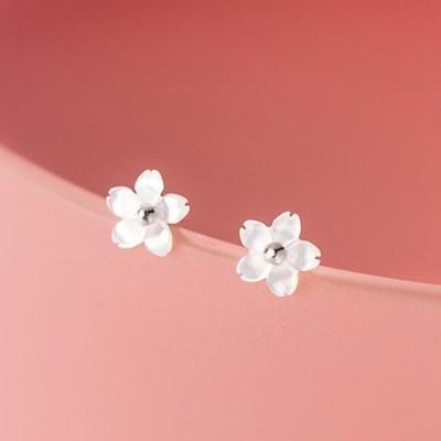 에르모사제이 실버925 데일리 꽃 은 귀걸이 E077-실버