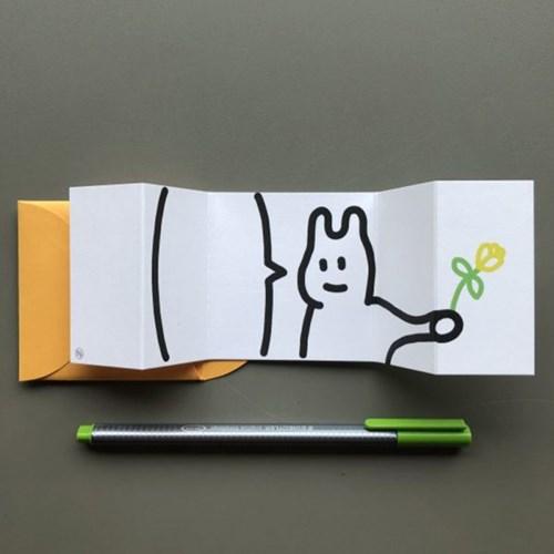 [퍼디] 꽃을 드릴게요 팝업카드 - 퍼디버전