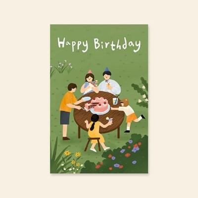 캘리엠 Happy brithday(2020가족) 캘리그라피 생일카드