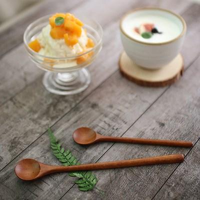 대추나무 옻칠 긴목 티스푼(크기선택)