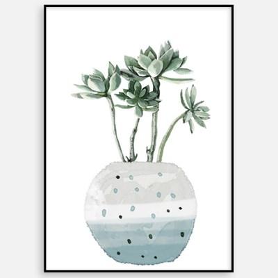 대형 거실 카페 아이방 인테리어 그림 액자 식물 꽃그림 북유럽