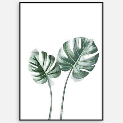 대형 거실 인테리어 카페 그림 액자 식물 일러스트 북유럽 몬스테라