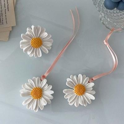 데이지, 국화 꽃 석고방향제(차량용, 고리용)