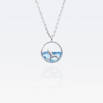[기부목걸이] 은빛 바다를 유영하는 고래_고래꼬리 시리즈 #07