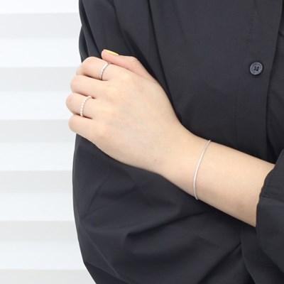 에르모사제이 실버 925 데일리 실크 뱀줄 체인 은 팔찌 W028-실버