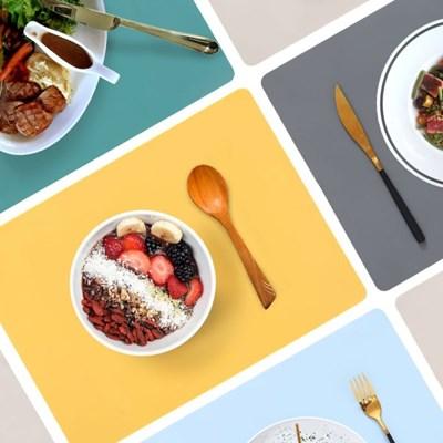 깔끔한 실리콘 테이블 매트 식탁 방수 식탁보 다이닝 5colors