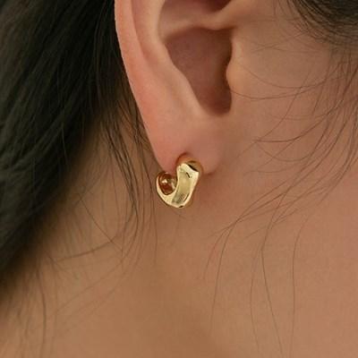 925 silver slick angle C earrings (실버925)