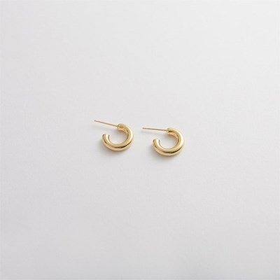 925 silver bold C ring earrings 13mm (실버925)