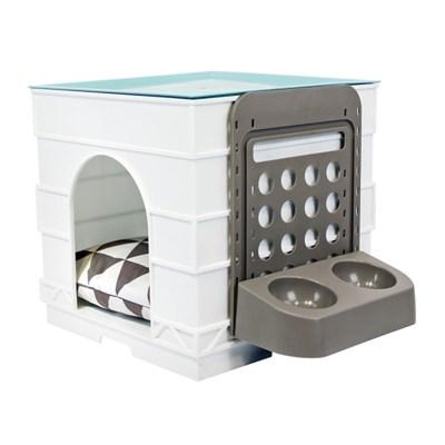 걸이형 높이조절가능 애견식기함 강아지 고양이 밥그릇