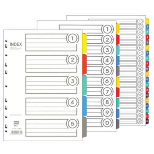 [알파] 인덱스간지 I-605 PVC 5분류 A4_(12654478)