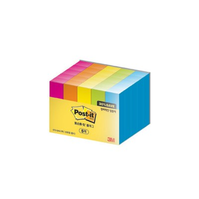[3M]포스트잇 플래그 670-5AN-5 알뜰팩(670-5AN/5입)_(12651281)
