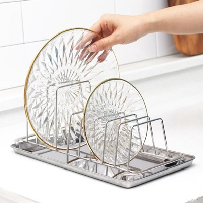 물받침 스테인레스 접시꽂이 접시정리대 접시거치대
