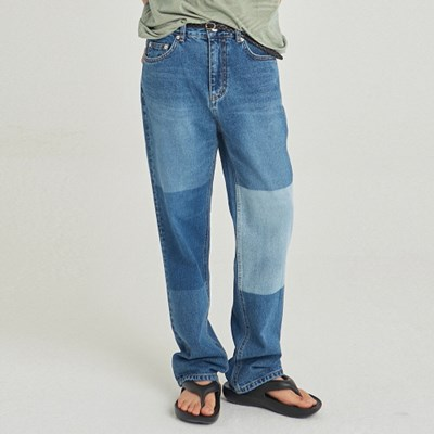 W PANEL WASH WIDE JEAN_BLUE DENIM