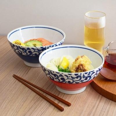 푸른 넝쿨 문양 면기 2color 라면 우동 냉면 사케동 텐동 그릇