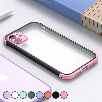 아이폰8플러스 컬러 포인트 클리어 하드 케이스 P520_(3000300)