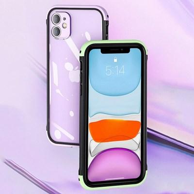 아이폰7 컬러 포인트 클리어 하드 케이스 P520_(3000288)