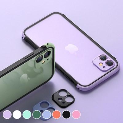 아이폰11 컬러 포인트 클리어 하드 케이스 P520_(3000279)