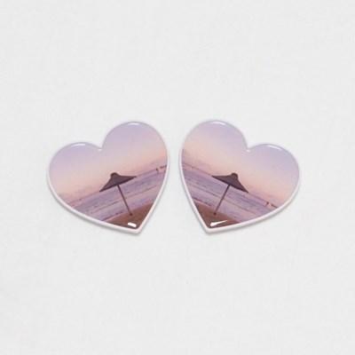 [메리필름] 핑크빛 노을 하트 스마트톡