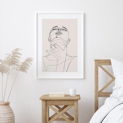 우먼핸드 드로잉 그림 액자 포스터