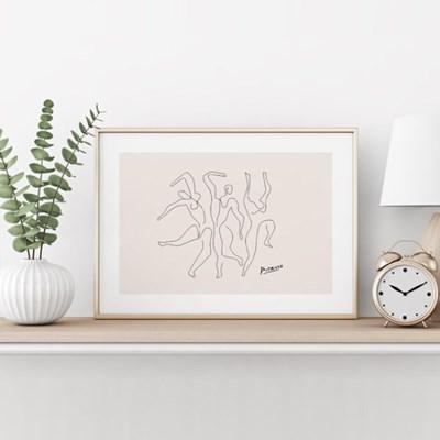 피카소 드로잉 액자 그림 포스터 댄스