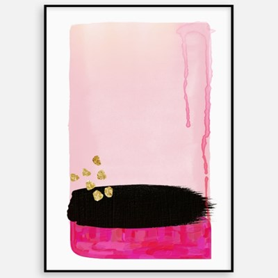 패브릭포스터 추상화 거실 인테리어 액자 핑크블랙
