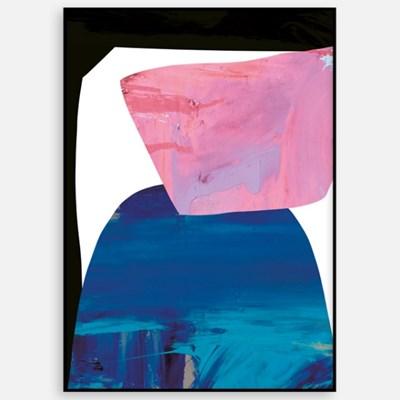 패브릭 포스터 추상화액자 거실 인테리어 액자 네이비블루