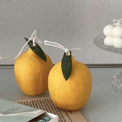 레몬 과일 캔들