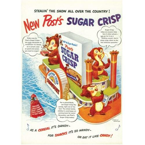 [디저트신드롬] 빈티지 일러스트 포스터 :: sugar crisp_showboat