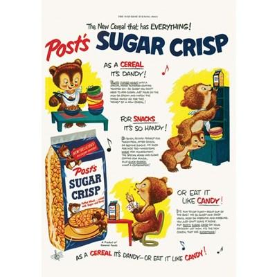 [디저트신드롬] 빈티지 일러스트 포스터 :: sugar crisp_cereal