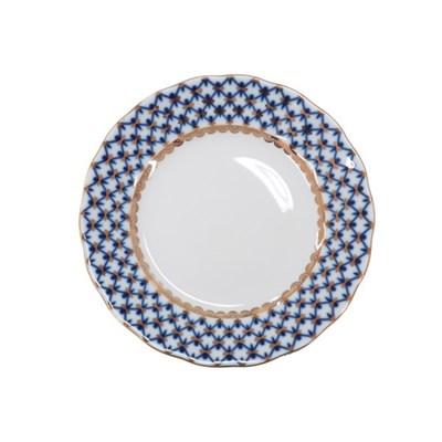 임페리얼 포슬린 코발트넷 튤립 브래드&버터 접시 15cm