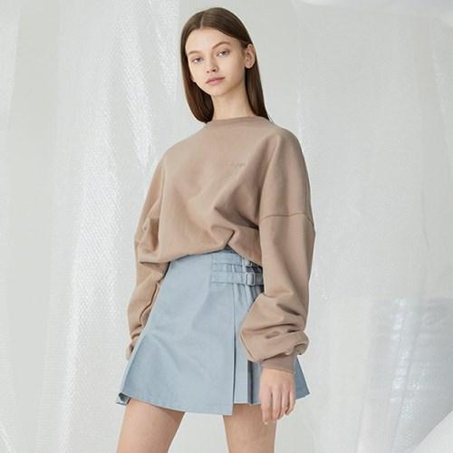[밀로그램]Double Belt Pile Miniskirt_LIGHT GRAY