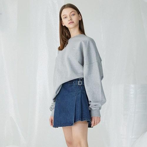 [밀로그램]Double Belt Pile Miniskirt_DARK BLUE