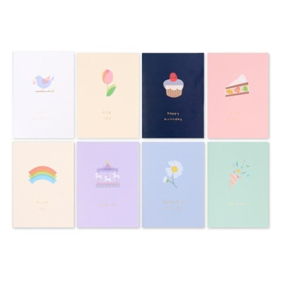 1000 하모니 축하카드(세트/8개)_(3046929)