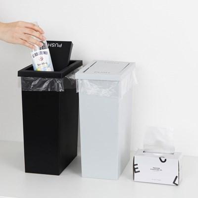 슬림 스윙 휴지통 8L + 전용 비닐봉투10L 50매