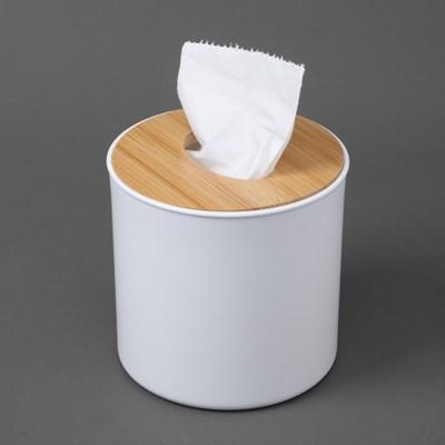 화이트우드 원형 휴지케이스 / 두루마리휴지케이스