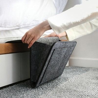 공간활용 사이드 수납포켓(차콜)/ 틈새고정 침대포켓