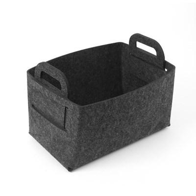접이식 펠트 바구니(36x26cm) (블랙)/ 다용도정리함