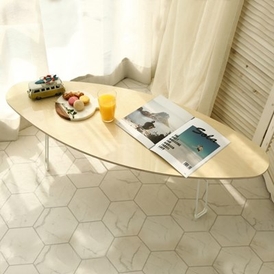 자작나무 원목 접이식 거실 소파 테이블 서핑보드 1200