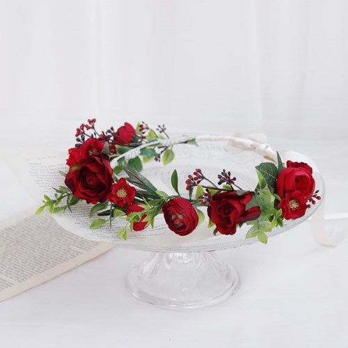 Red Flower Mix 플라워화관