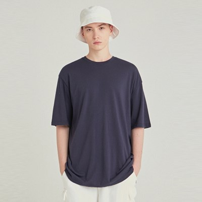 MULTI OVERSIZED HALF TEE_NAVY
