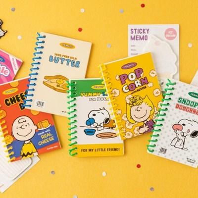 [Peanuts] 스누피 마켓_미니노트+메모잇 set