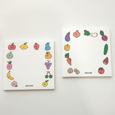 과일야채 메모패드