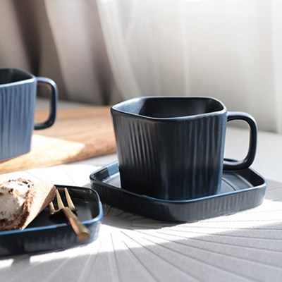 칠린 오각 커피잔 세트  1인조