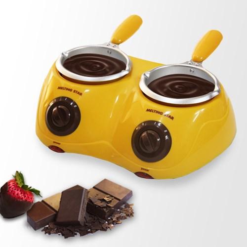 에바 초콜릿중탕기 멜팅스타 2구-옐로우 P-2000YE