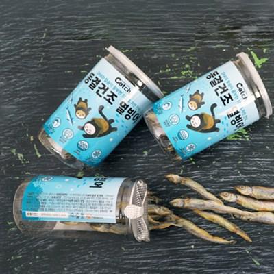 캐치 동결건조 열빙어트릿 대용량 15P 강아지 고양이 열빙어 간식
