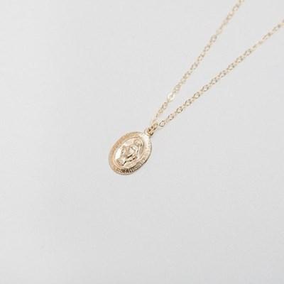 14k gf maria oval necklace (14K 골드필드)