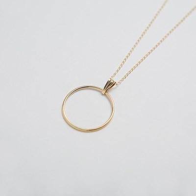 14k gf circle ring necklace (14K 골드필드)
