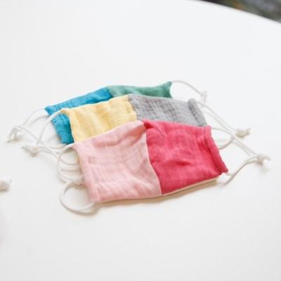 유아 거즈 필터교체 컬러 배색 마스크