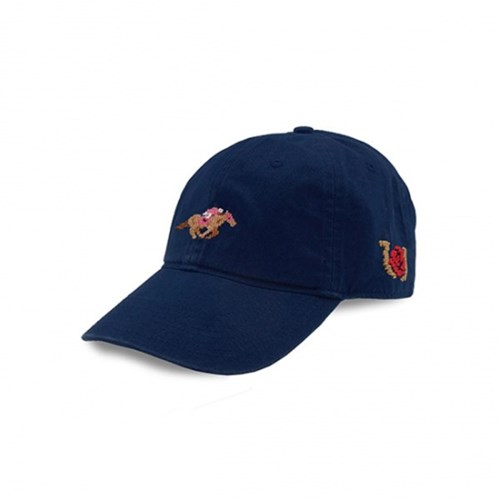 [Smathers&Branson]Adult`s Hats Kentucky Derby Horse on Navy