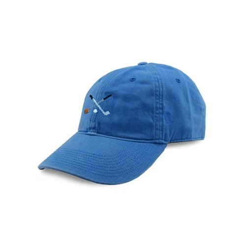 [Smathers&Branson]Adult`s Hats Crossed Clubs on Royal Blue